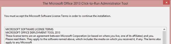 Office 2013 Click-to-Run Administrator tool