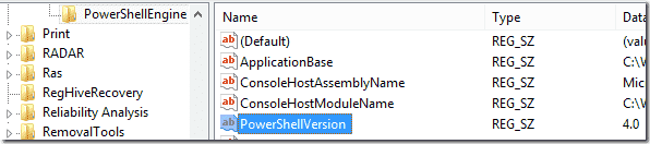 PowerShell version in Registry