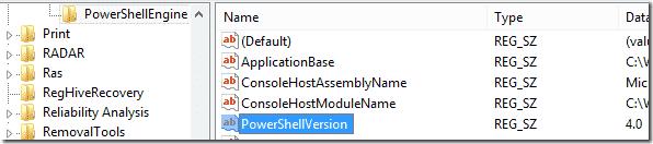 PowerShell version in Registry