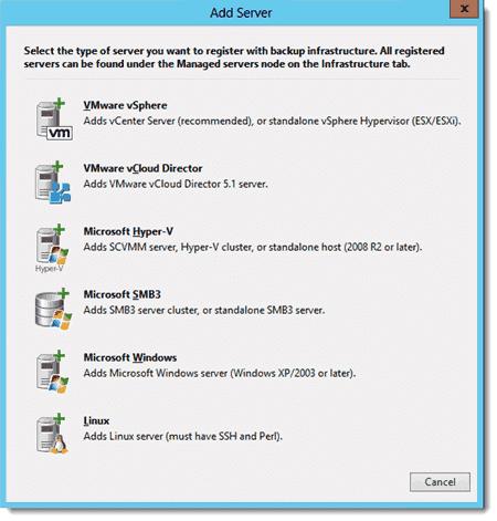 Register hypervisors