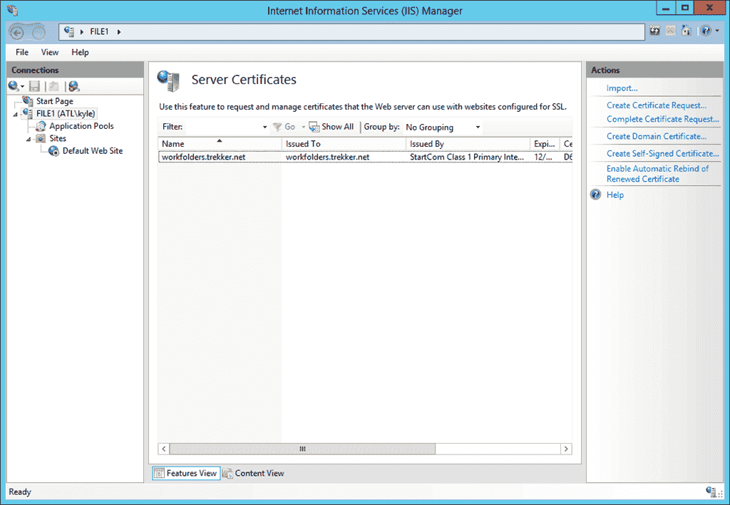 Work Folders – Part 3: Setting up SSL – 4sysops