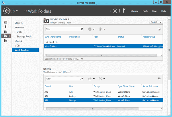 Work Folders in Windows Server 2012 R2
