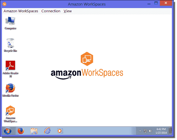 Amazon WorkSpace - Windows Server 2008 R2 with Desktop Experience