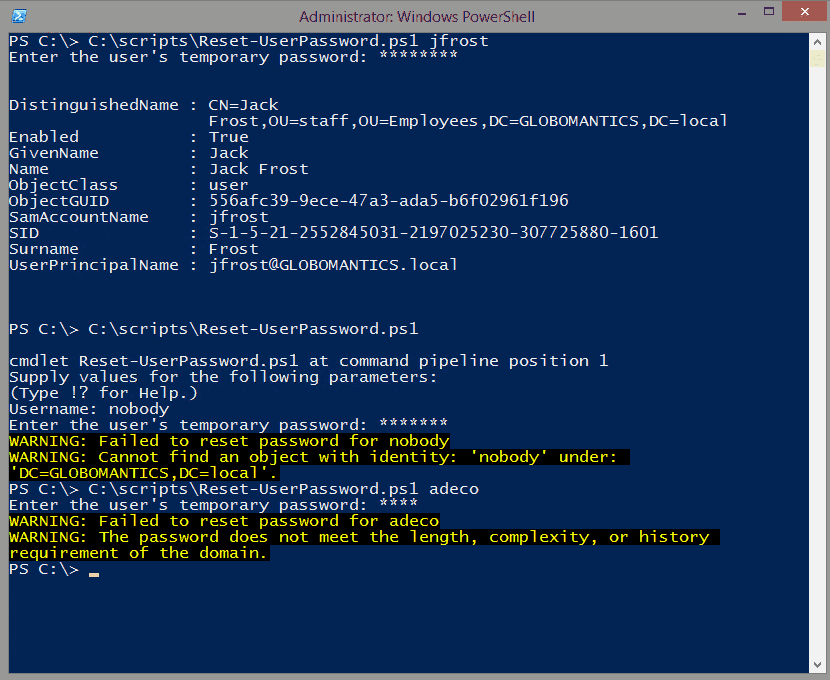 Creating a password reset tool with PowerShell – Part 1