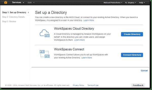 Amazon WorkSpaces Active Directory Connect