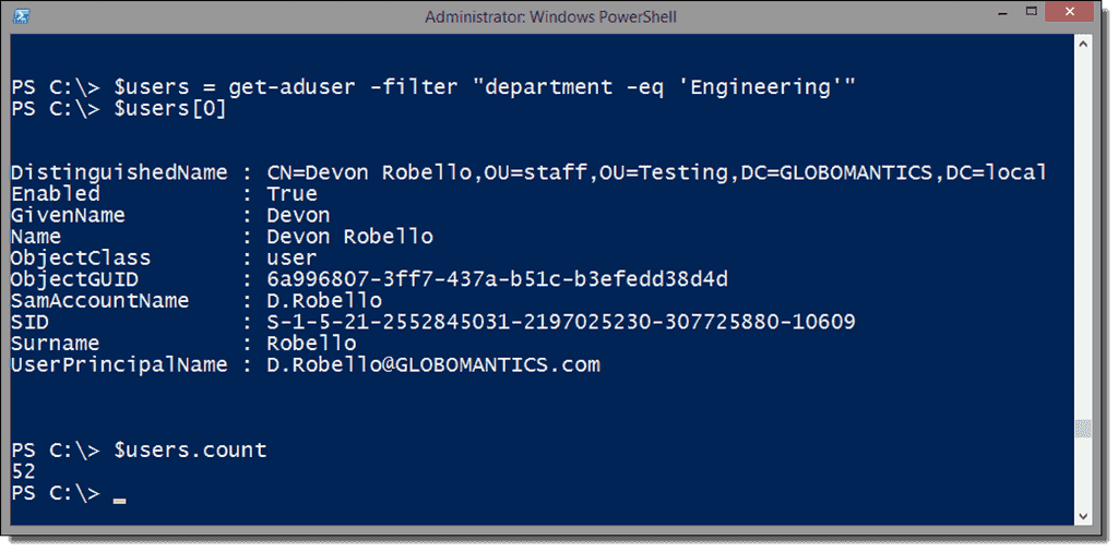 Export Active Directory users with PowerShell – 4sysops