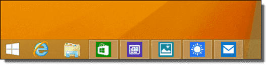 Apps can now be minimized to the Taskbar