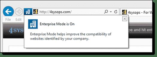 Enterprise Mode is On