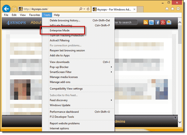 Internet Explorer Enterprise Mode