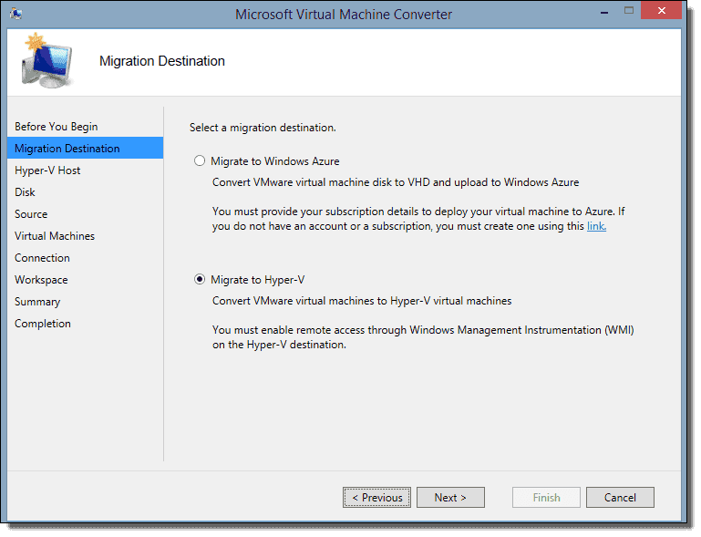 Convert VMware to Hyper-V with Microsoft Virtual Machine Converter