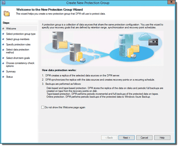 System Center 2012 R2 DPM - Create Protection Group