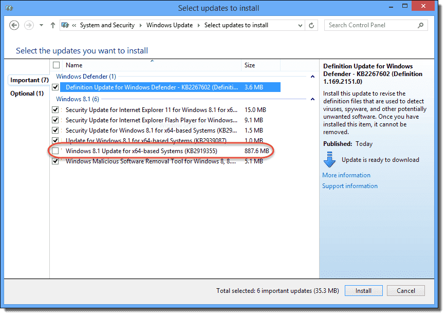 download 8 1 update