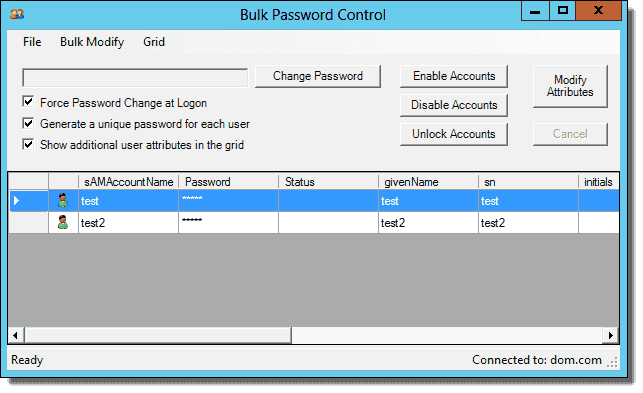FREE: Bulk Password Control – Automate Active Directory user object