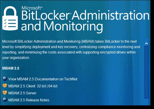 MBAM 2.5 marks another major update for BitLocker management