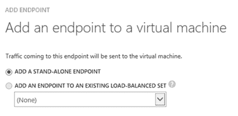 Add an endpoint to a virtual machine