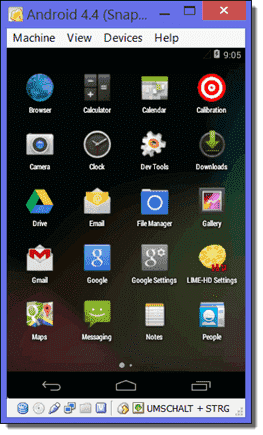 Android on VirtualBox with changed resolution