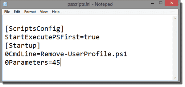 Parameter settings of the PowerSgell startup script