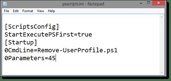 Parameter settings of the PowerSgell startup script