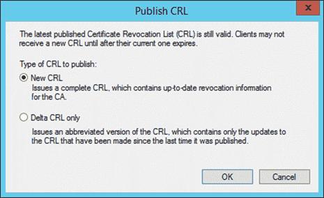 Publish CRL