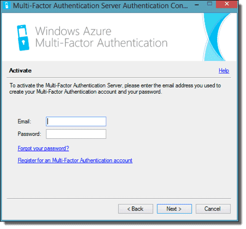 Activate the Multi-Factor Authentication Server