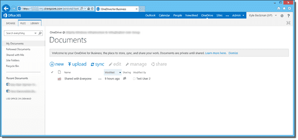 OneDrive for Business folder