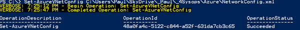 Set virtual network with PowerShell