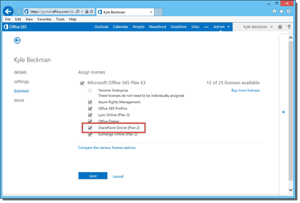 SharePoint Online enabled