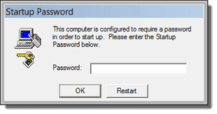 Startup password
