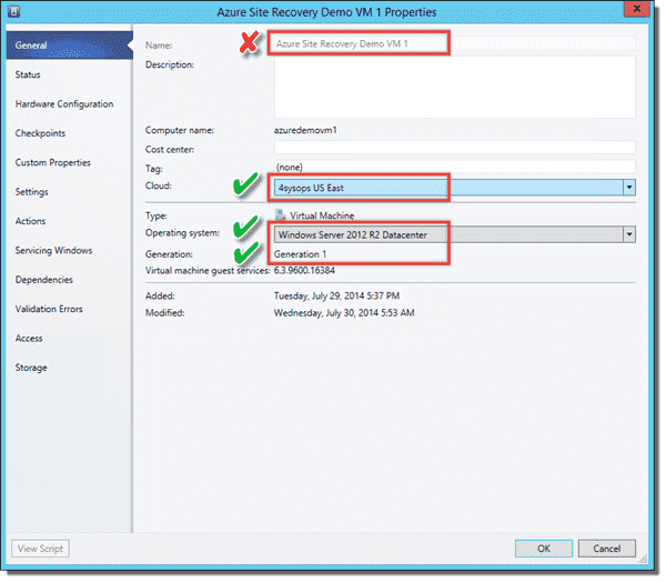Checking VM properties in Virtual Machine Manager