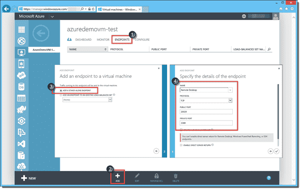 Creating a Remote Desktop endpoint