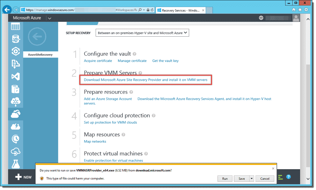 Configuring Azure Site Recovery – 4sysops