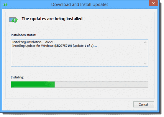 Installing Windows 8.1 August updates