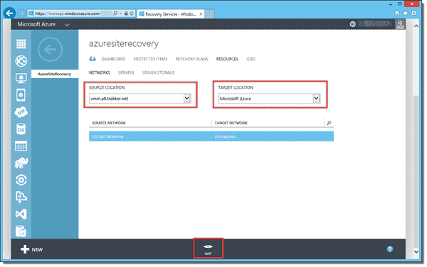 Mapping source VMM network to target Azure network