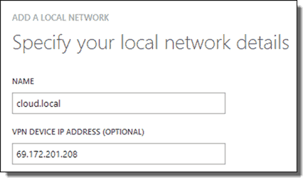 Specify your local network details