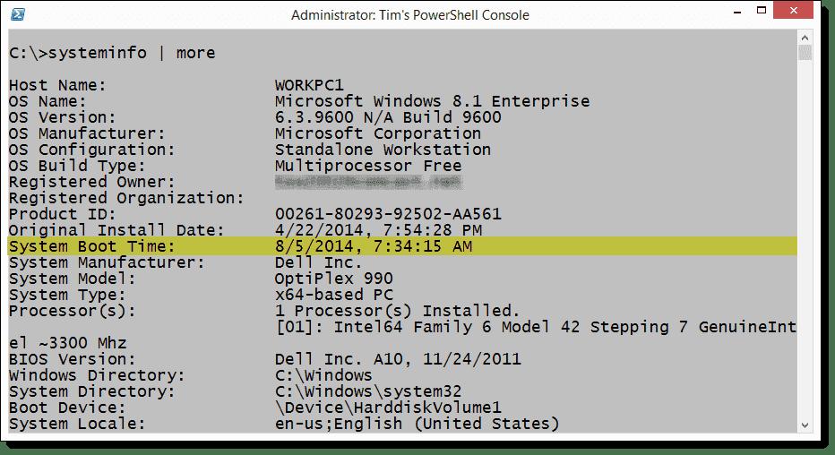 windows 7 system uptime