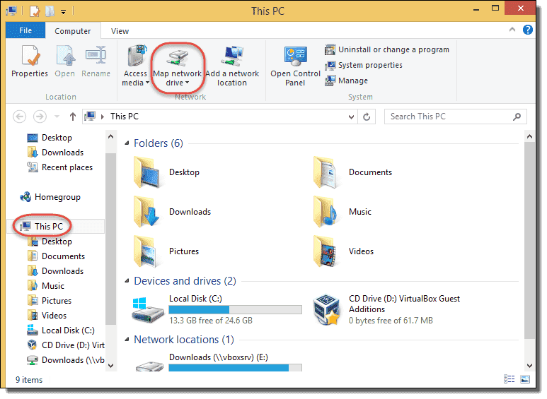 Map Network Drive In Windows 8  And Windows 7