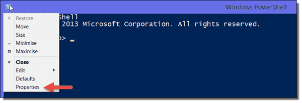 PowerShell console - Properties