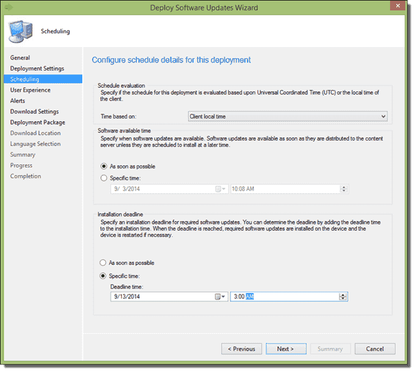 Properly setting the installation deadline to off-peak times will reduce user frustration