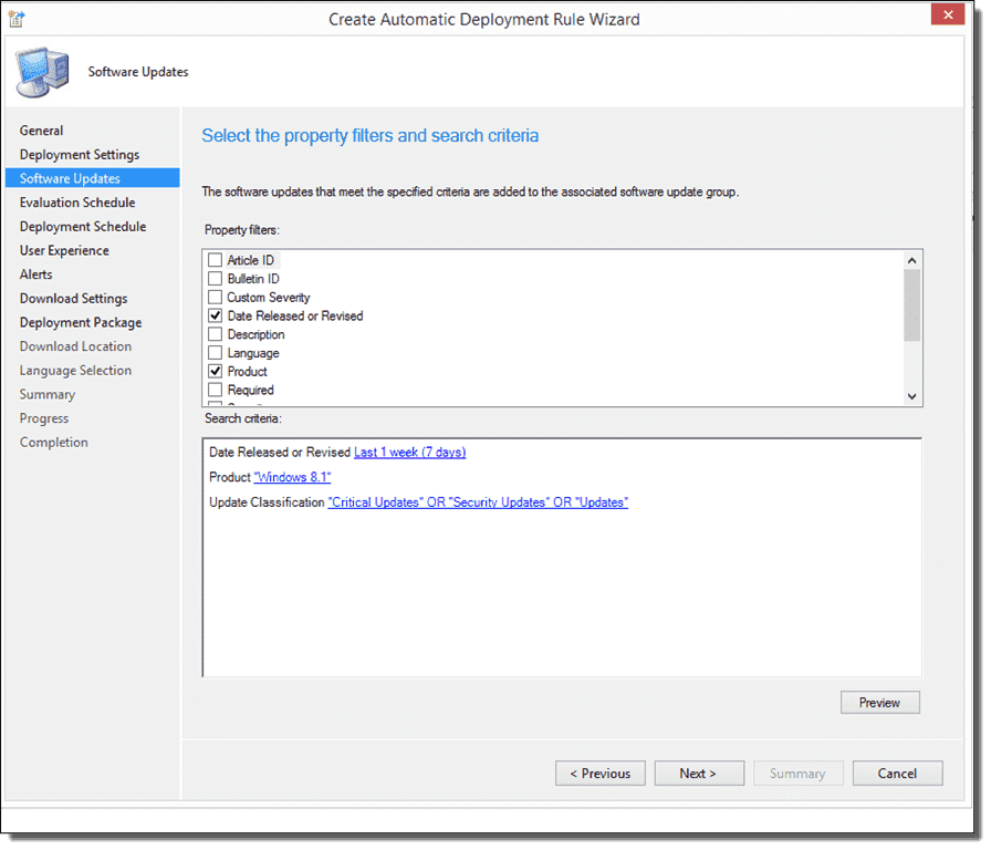 Unifying SCCM and WSUS – Part 2: Baselines and automatic