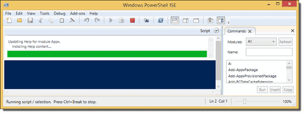Updating Help in PowerShell ISE