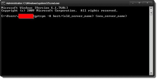 setspn -A command