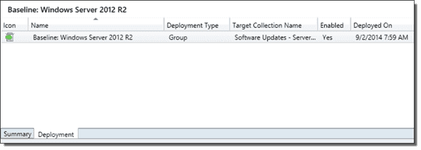 A deployment applied to a collection