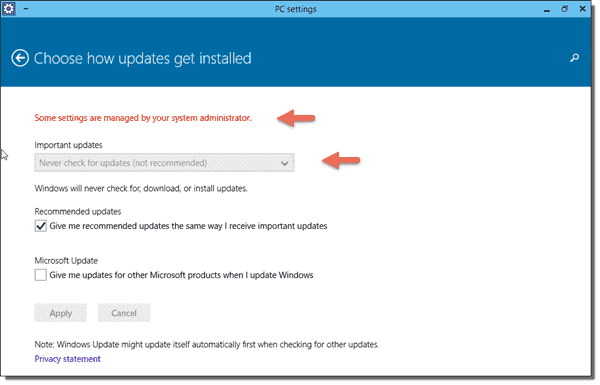Choose how updates get installed