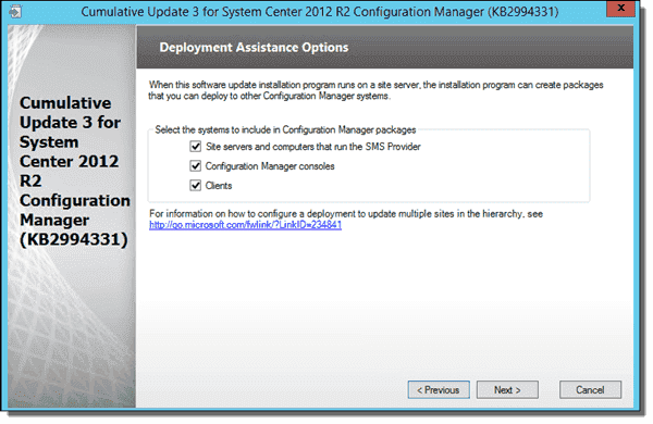Creating packages for each update component in SCCM 2012.