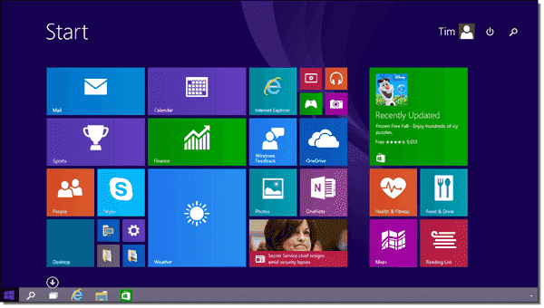 Microsoft made some nice tweaks to the Start Screen