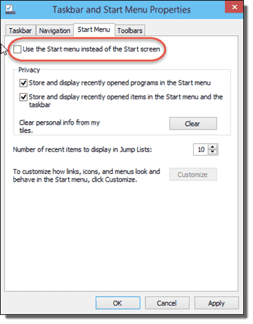 Restore Windows 10 Start Screen