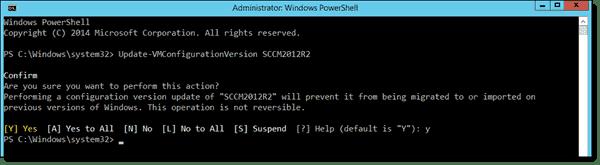 Upgrade a VMs configuration version
