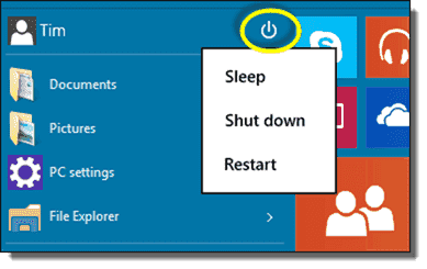 We can easily manage system sleeps, shutdowns, or reboots through the Start menu
