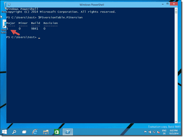 Windows 10 comes with PowerShell 5.0