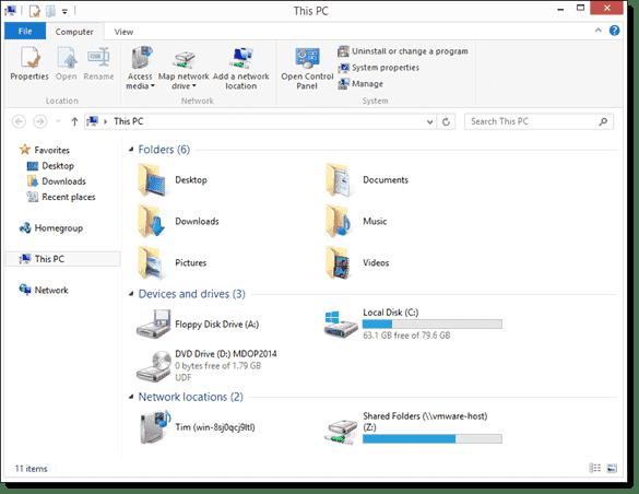 Windows 8.1 File Explorer interface